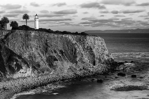 Point Vicente Lighthouse - Rancho Palo Verdes - California - Black and White by Photography  By Sai