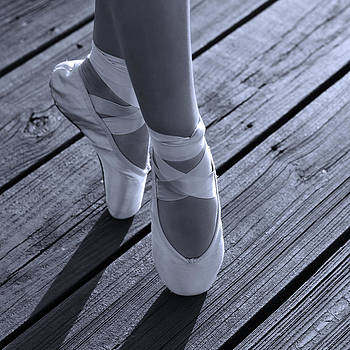 Pointe Shoes Bw by Laura Fasulo