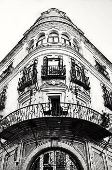 Angela Bonilla - Pointed Neo-Classical Building Facade in Seville Spain