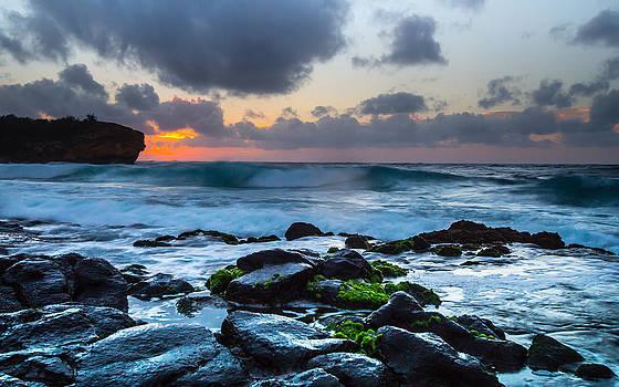 Poipu Kauai Ship Wreck Beach Sunrise by Sam Amato