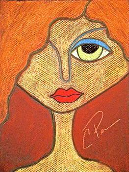 Poker Face Left Eye by Chrissy  Pena