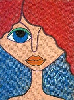 Poker Face Right Eye by Chrissy  Pena