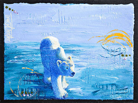 Polar Bear Abstract by Tracy L Teeter
