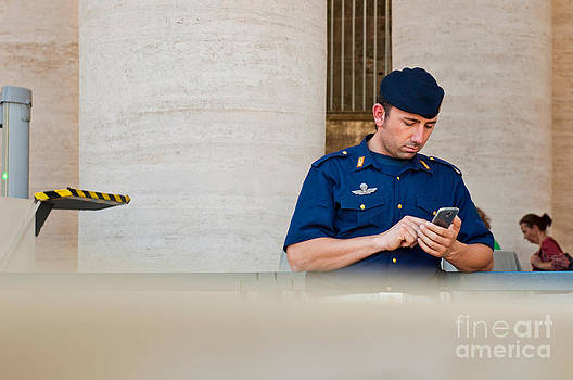 Policeman at St. Peter's Basilica by Luis Alvarenga