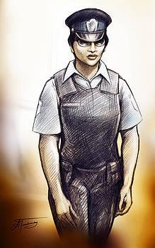 Policewoman Michelle by Alex Tavshunsky