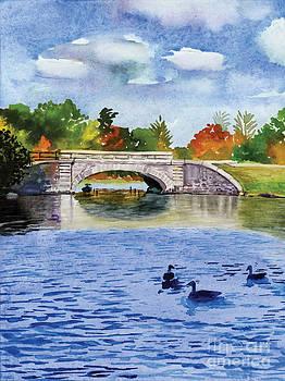 Polo Lake Bridge Providence RI by Hollis Machala