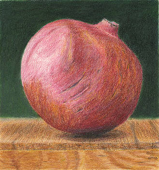 Pomegranate on Box by C Sergent Lindsey