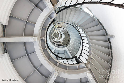 Ponce De Leon Inlet Lighthouse Staircase by Todd Blanchard