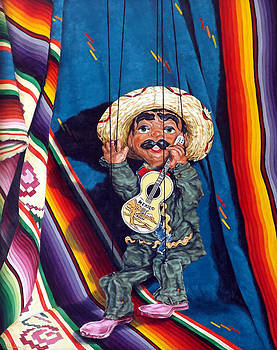 Poncho and his Guitar by Linda Becker