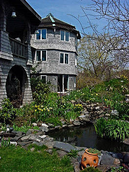 Pond at the Lands End Inn Provincetown Cape Cod by Mike McCool