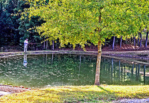 Pond Fishing Collinsville Alabama by Marilyn Holkham