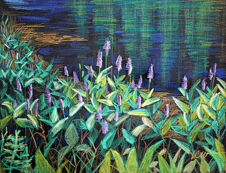 Pond Flowers 1 by Linda Clearwater