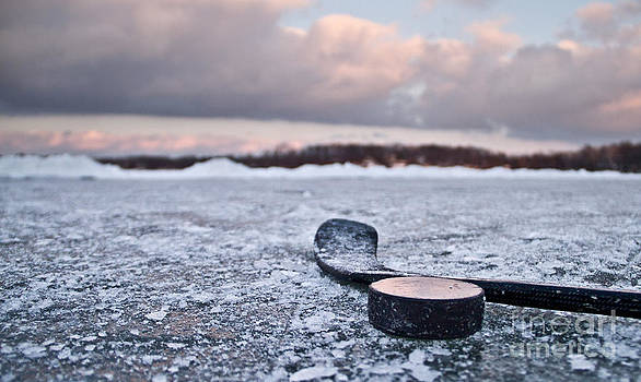 Pond Hockey by Mike Wilkinson
