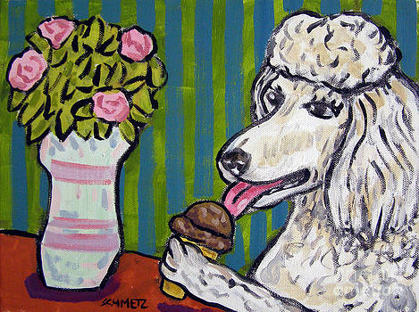 Poodle at the Ice Cream Parlour by Jay  Schmetz