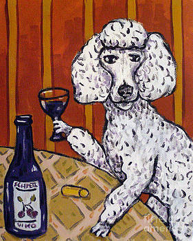 Poodle at the Wine Bar by Jay  Schmetz