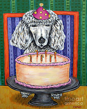 Poodle Birthday by Jay  Schmetz