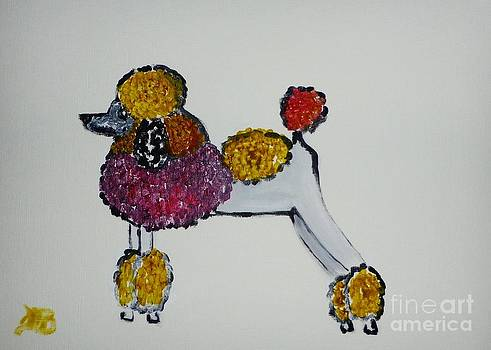 Poodle in Color by Marie Bulger