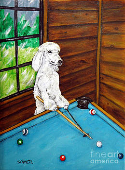Poodle Plying Pool by Jay  Schmetz