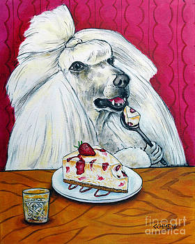 Poodle with Cheesecake by Jay  Schmetz