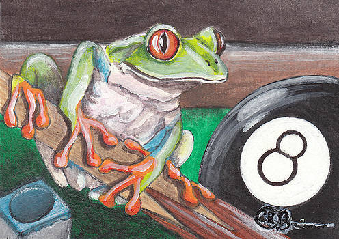 Pool Frog by Candace OBrien