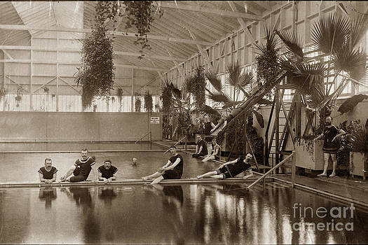 California Views Mr Pat Hathaway Archives - Pool in the Del Monte Bath House Monterey circa 1885