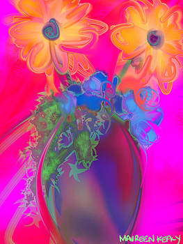 Pop Art Sunflowers in a Vase by Maureen Kealy