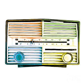 Pop Art Vintage Radio by Edward Fielding