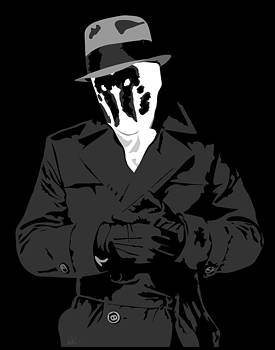 Popart Rorschach Watchmen design by Paul Dunkel