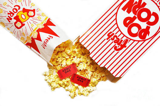 Danny Hooks - Popcorn and Movie Tickets Isolated
