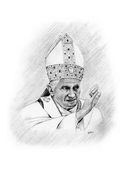 Pope Benedict by Lou Ortiz