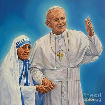 Pope John Paul II and Mother Teresa by Ivonne Galanes Svard