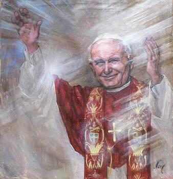 Pope John Paul Ii by Elisabeth Nussy Denzler von Botha