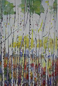 Poplars in Fall by Lee Stockwell