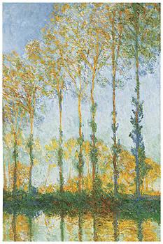 Claude Monet - Poplars White and Yellow Effect