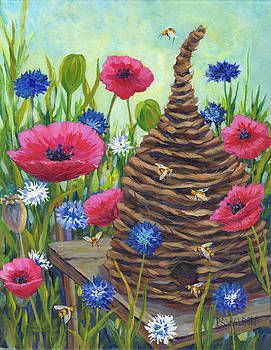 Peggy Wilson - Poppies and Bee Skep