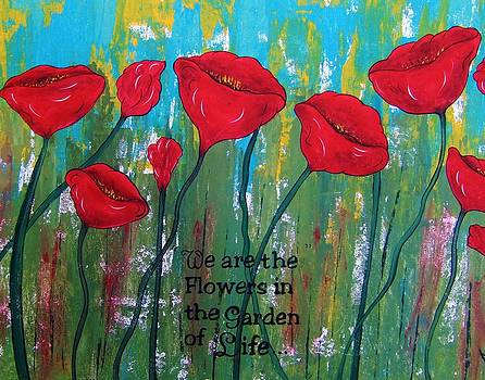Poppies Garden of Life Series abstract by Cindy Micklos