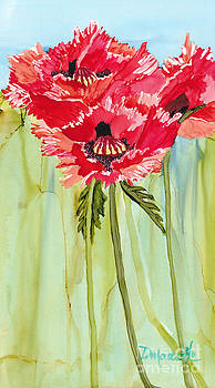Poppies I by Diane Marcotte