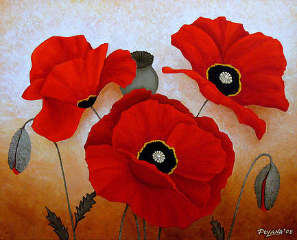 Poppies Ii by Deyana Deco