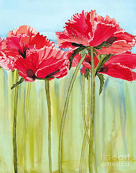 Poppies II by Diane Marcotte