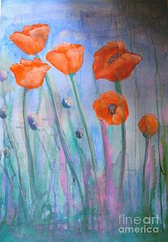 Poppies III by Marilyn  Sahs