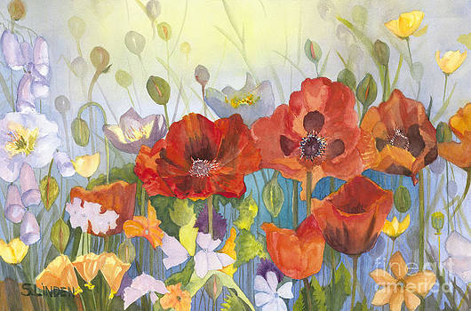 Poppies in the Light by Sandy Linden