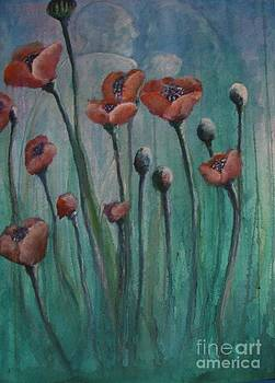 Poppies IV by Marilyn  Sahs