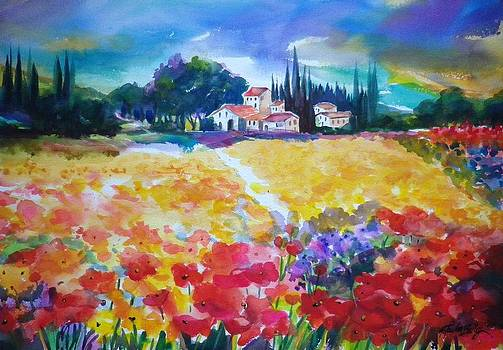 Poppies of Tuscany SOLD by Therese Fowler-Bailey