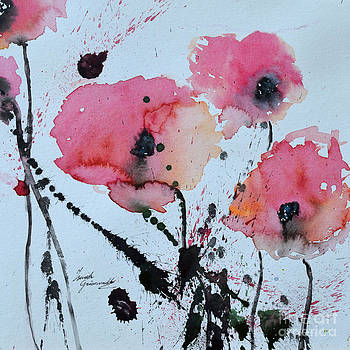 Poppies- painting by Ismeta Gruenwald