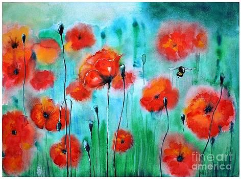Poppies by Tatiana Tatti Lobanova