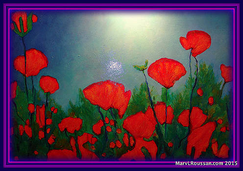 Popping Poppies by MarvL Roussan