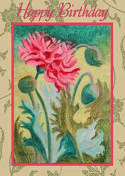 Ruth Soller - Poppy Abstract card