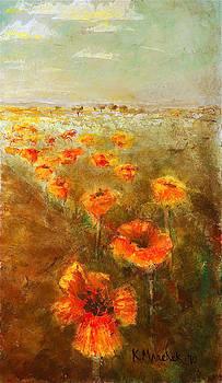 Kathleen Mrachek - Poppy Field  Triptic Right