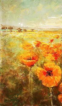 Kathleen Mrachek - Poppy Fields Left Triptic