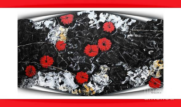 Barbara Griffin - Poppy Jasper Stone Painting with Red Borders